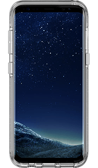 Silver Flake Otterbox Galaxy S8 Symmetry Case Front View