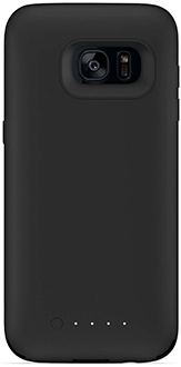 Black Mophie Juice Pack - Samsung Galaxy S7 Edge - Front View
