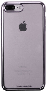 Gun Metal Viva Madrid Metalico Flex - Samsung  iPhone 7 Plus/8 Plus Case Back View