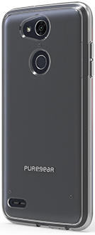 Clear PureGear Slim Shell LG X Power 3 Case Angled Back