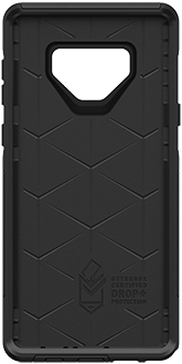 Black OtterBox Galaxy Note9 Defender Case Front