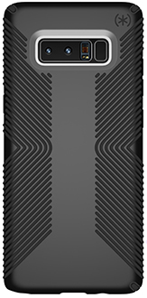 Black Speck Presidio Grip Galaxy Note8 Case Back View