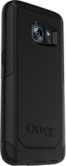 Black OtterBox Galaxy S7 Commuter Case Angled Back View