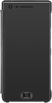 Black BlackBerry Motion Privacy FlipCase Front View