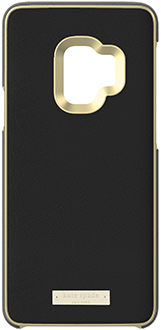 Saffiano Black kate spade Galaxy S9 Wrap Case Back