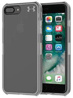 Clear Under Armour Protect Verge - iPhone 7 Plus/8 Plus Case Angled View