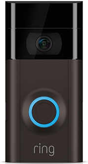 Ring Video Doorbell 2 Front - Black Faceplate