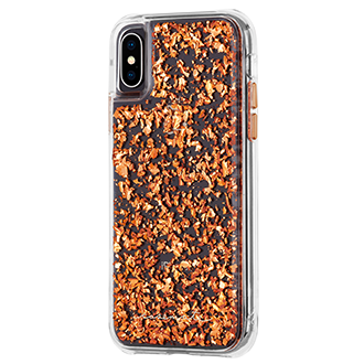 Rose Gold Case-Mate Karat - iPhone X/Xs Case Angled View
