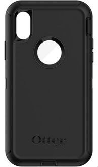Black OtterBox iPhone X Defender Case Back View