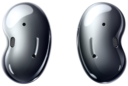 Samsung Galaxy Buds Live mystic black bud back view