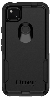 Black OtterBox Pixel 4a Commuter Case from the back