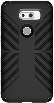Black Speck Presidio Grip LG V30 Case Back View