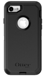 Black Otterbox iPhone 8 Defender Case Back View