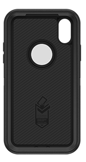 Black OtterBox iPhone X/Xs Defender Case Front