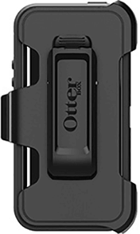 Black Otterbox iPhone 5/5S/SE Defender Case Back View with Holster