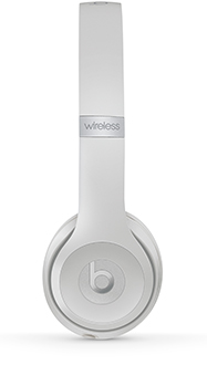 Satin Silver Solo3 Headphones Side