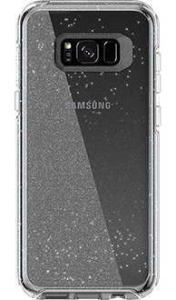 Silver Flake Otterbox Galaxy S8 Plus Symmetry Case Back View