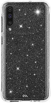 Glitter Case-Mate Sheer Crystal Galaxy A70 Case Back