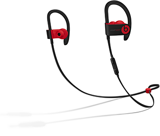 Defiant Black-Red Powerbeats3 Full Product View