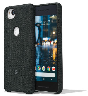Carbon Google Fabric Case (Pixel 2) Front and Back View