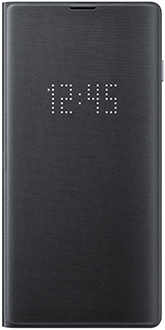 Black Samsung Galaxy S10 LED Cover Front