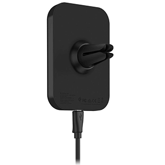 Black Mophie Charge Force Wireless Vent Mount 2