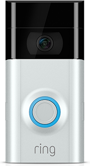 Ring Video Doorbell 2 Front - Nickel Faceplate