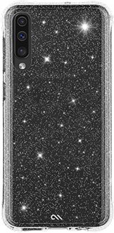 Glitter Case-Mate Sheer Crystal Galaxy A50 Case Back