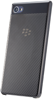 Dark Grey BlackBerry Motion Hard Shell Case Angled Back View