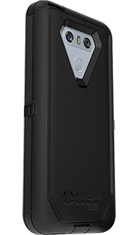 Black Otterbox LG G6 Defender Case Angled Back View