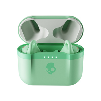 Pure Mint Skullcandy Indy Evo True Wireless Earbuds in the case front view