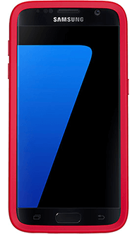 Flame Red OtterBox Galaxy S7 Symmetry Case Front View