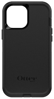 Black OtterBox iPhone 12 Pro Max Defender Case from the Back