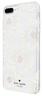 Hollyhock Floral kate spade Protective Hardshell - iPhone 6 Plus/6s Plus/7 Plus/8 Plus Case Left Angled View