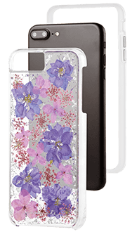 Purple Case-Mate Karat Petals - iPhone 7 Plus/8 Plus/6 Plus/6S Plus Case Front View