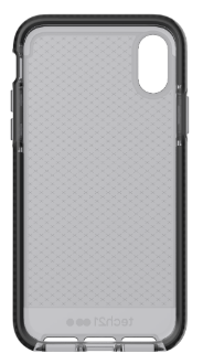 Smokey/Black Tech 21 Evo Check - iPhone X Case Angled View