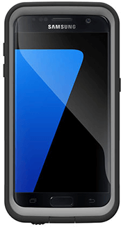 Black LifeProof FRĒ Galaxy S7 Case Front View