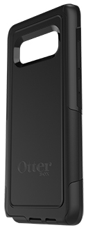 Black Otterbox Galaxy Note8 Commuter Case Angled Back View