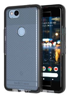 Smokey/Black Tech 21 Evo Check - Pixel 2 Case Front View