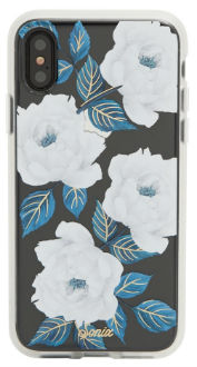 Sapphire Bloom Sonix iPhone X Clear Case Back View