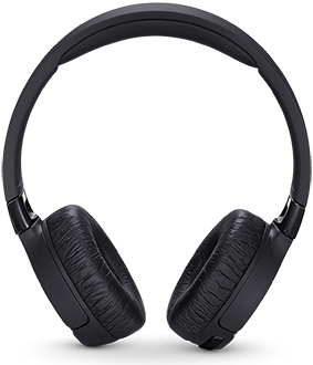 Black JBL TUNE600BTNC Headphones Front