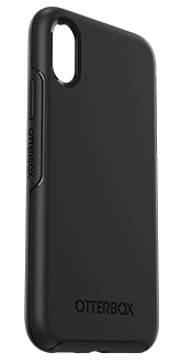Black OtterBox iPhone X/Xs Symmetry Case Angled View