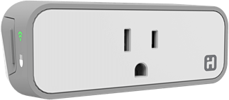 White iHome iSP6 SmartPlug Angled Front View