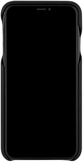 Black Case-Mate Barely There Leather iPhone Xs Max Case Front
