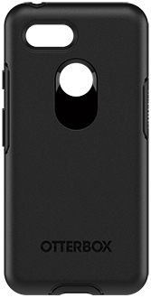 Black OtterBox Pixel 3 Symmetry Case Back