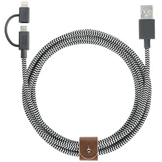 Zebra Native Union BELT Cable Twinhead (2M) - Front View