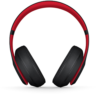 Defiant Black-Red Beats Studio3 Headphones Front