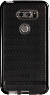 Smokey/Black Tech21 Evo Check LG V30 Case Back View