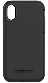 Black OtterBox iPhone X Symmetry Case Back View