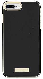Black Saffiano kate spade Inlay Wrap - iPhone 7 Plus/8 Plus Case Back View